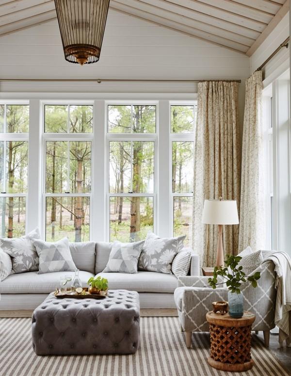 Gemütlichkeit pur kleine Akzente im frischem Grün im vorherrschend grauen Interieur