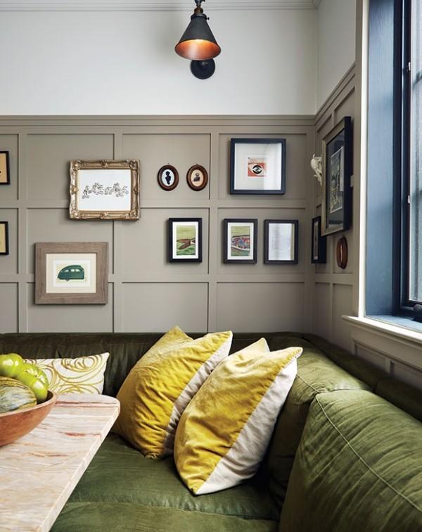 Grün Gelb Weiß Grau kontrastierende Farben für mehr Gemütlichkeit