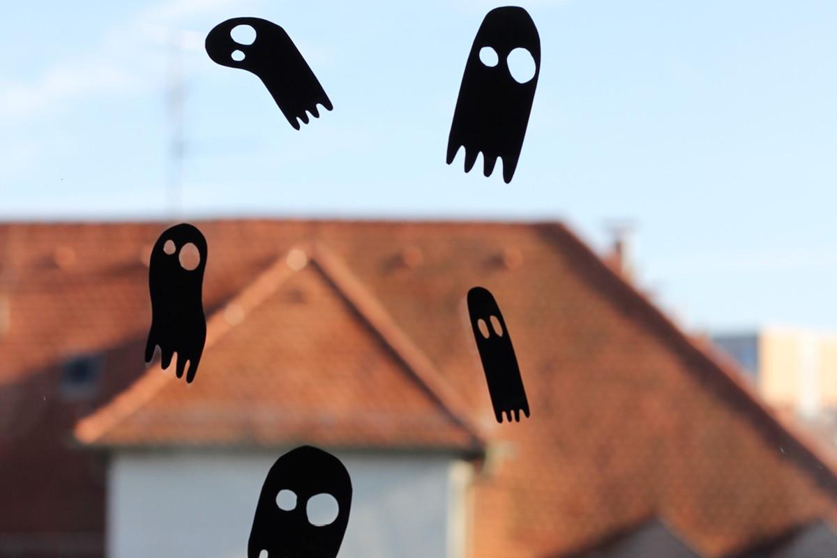 Halloween fensterdeko schaurige fensterbilder f rs - Halloween fensterbilder ...