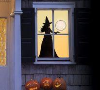 Halloween Fensterdeko – schaurige Fensterbilder fürs Gruselfest