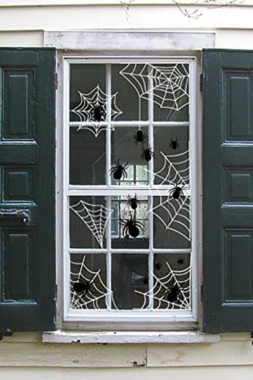 Halloween Fensterdeko Spinnen Spinnenweben Stil und Geschmack zeigen