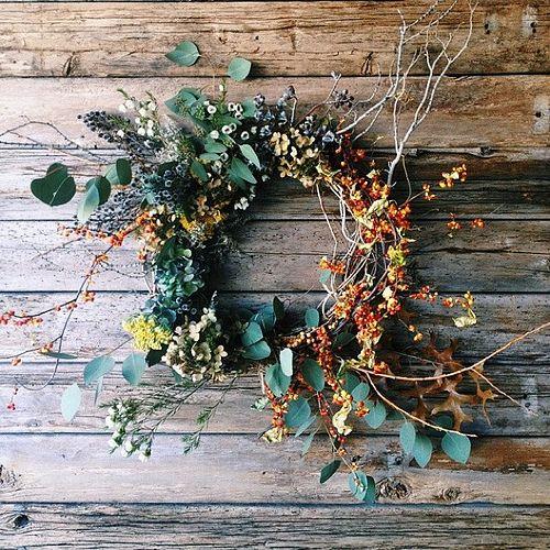 Herbstkränze Kletter und Waldpflanzen