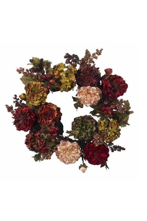 Herbstkränze dunkle elegante Farben