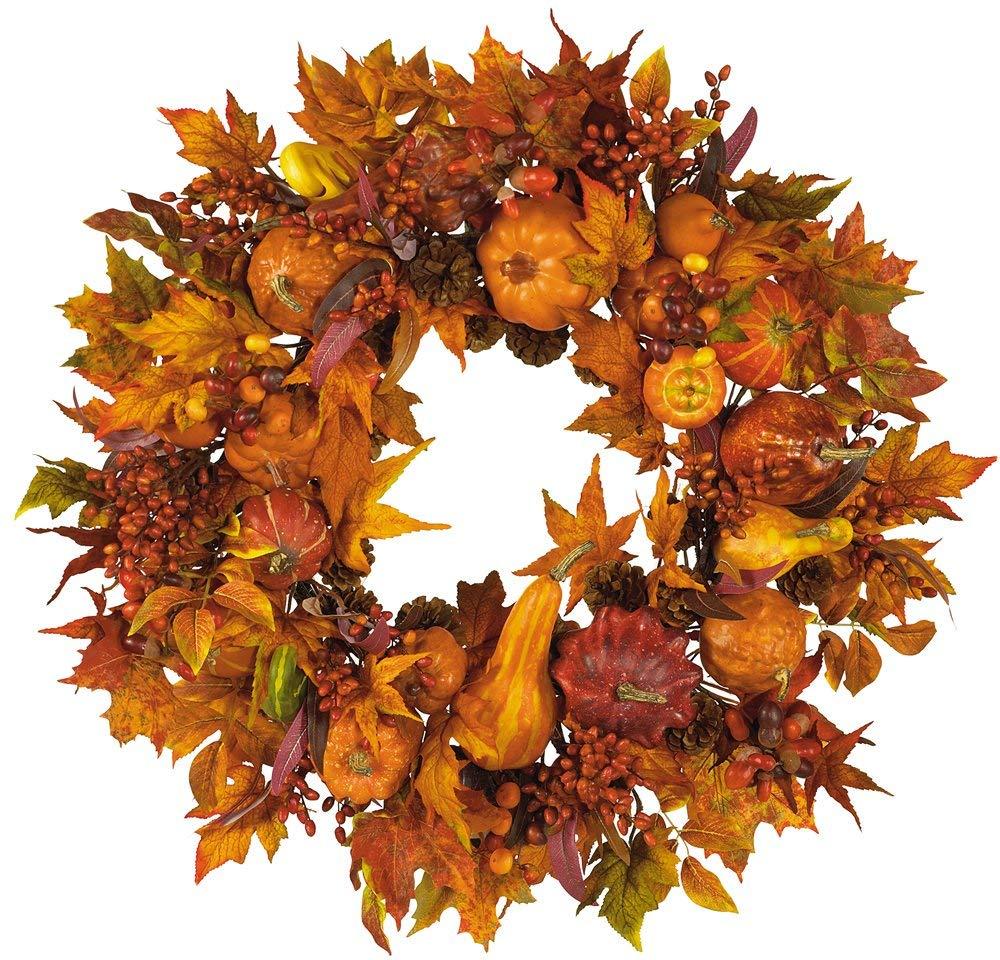 Herbstkränze gelb orange Schattierungen