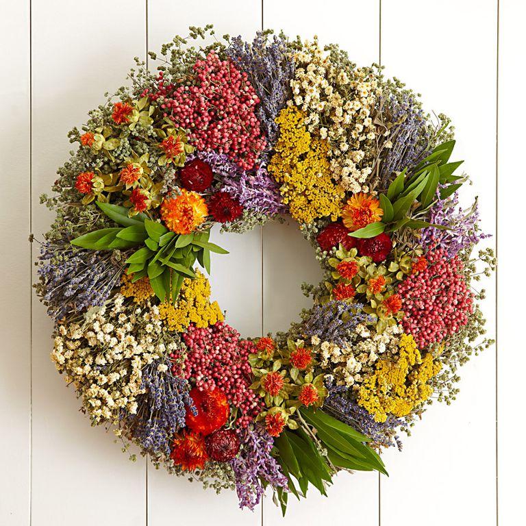 Herbstkränze mehrere Farben mit Blumen