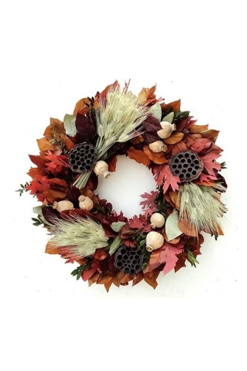 Herbstkränze mehrfarbene Blätter und Ideen