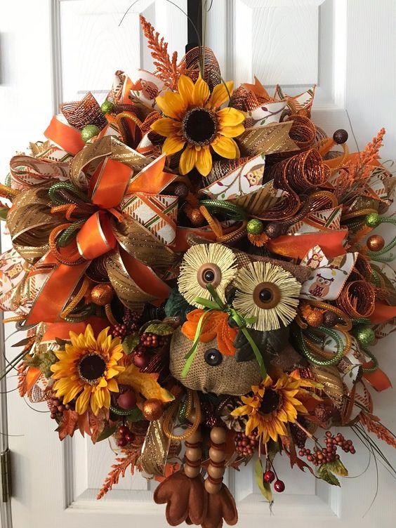 Herbstkränze prachtvolle Gestaltungsidee
