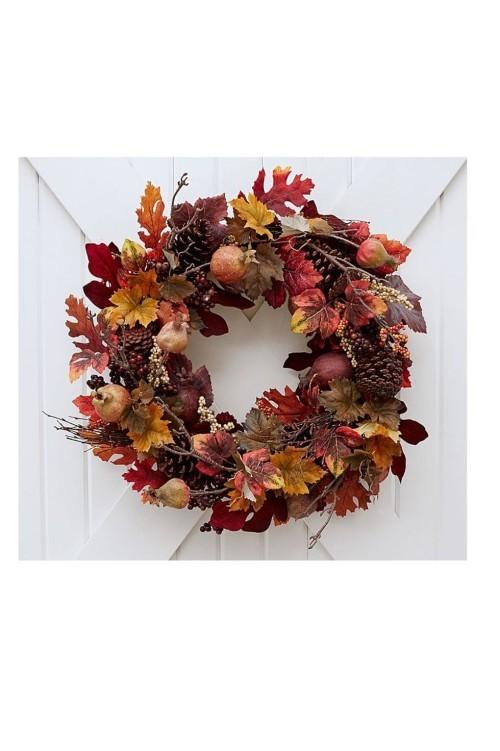 Herbstkränze tolle grelle Blätter