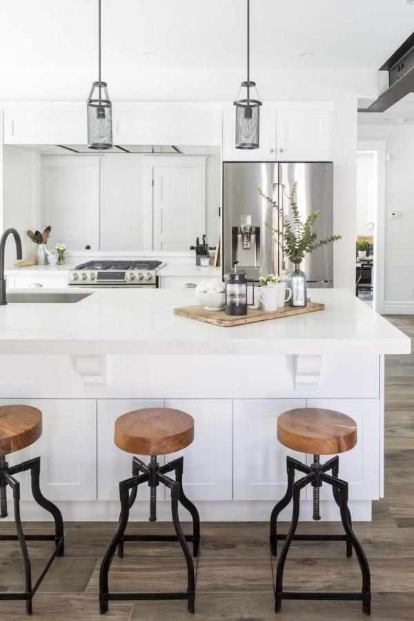 Küchendesign Ideen elegante Hängelampen