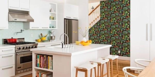 Küchendesign Ideen grelle Farbakzente in Orange ergänzen das Raumdesign