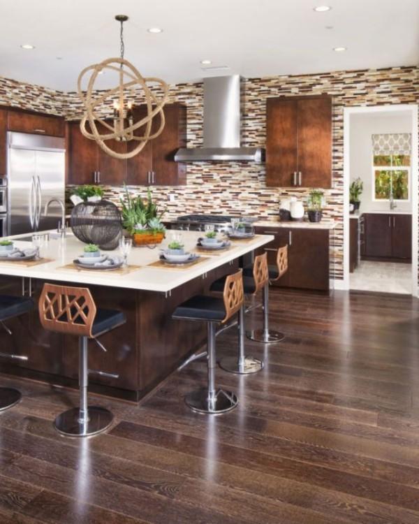 Küchendesign Ideen moderne geräumige Küche