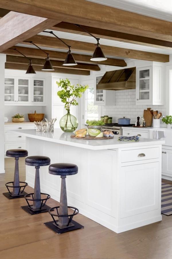Küchendesign Ideen weiße Küche im Landhausstil