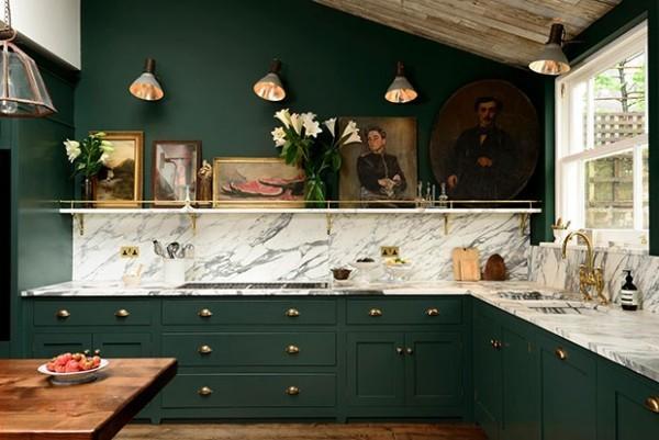 Küchenschränke Marmor schönes Design