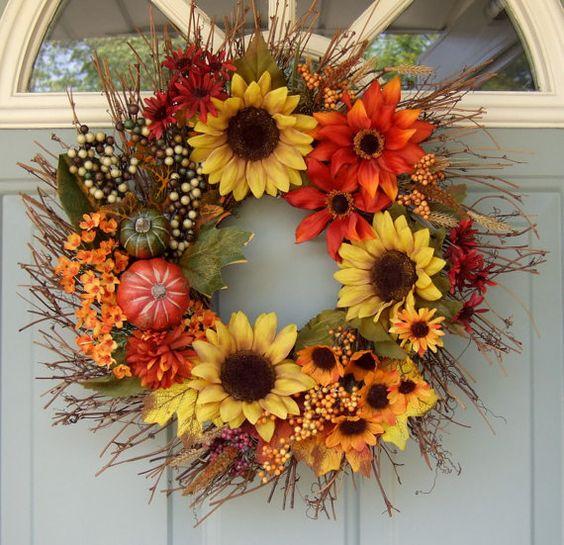 Künstliche Materialien Herbstkränze