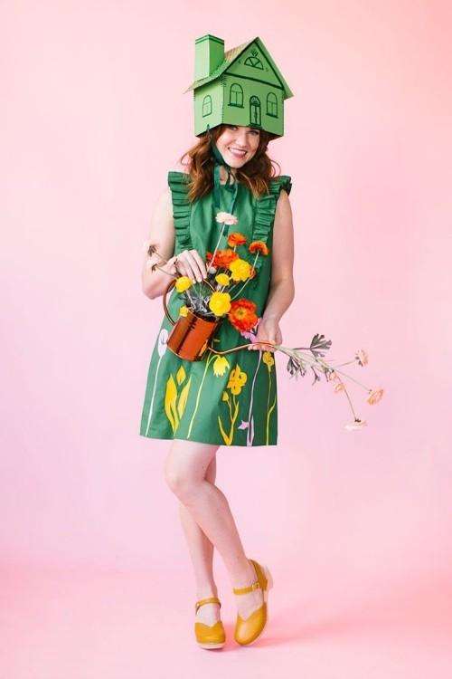 Lustige Halloween Kostüme hier in Grün mit vielen Mustern