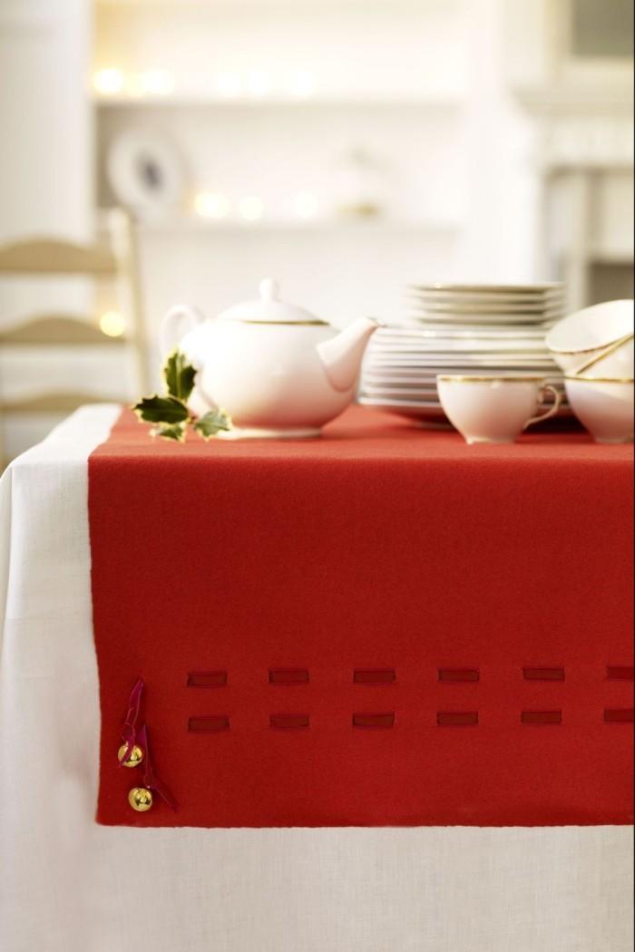 Tischdeko Ideen zu Weihnachten kleine Klingelglocken