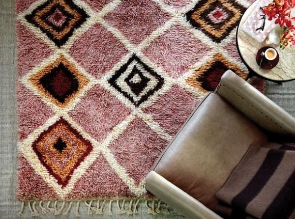 Trendfarben 2018 bunter Teppich sehr weich warme Farben