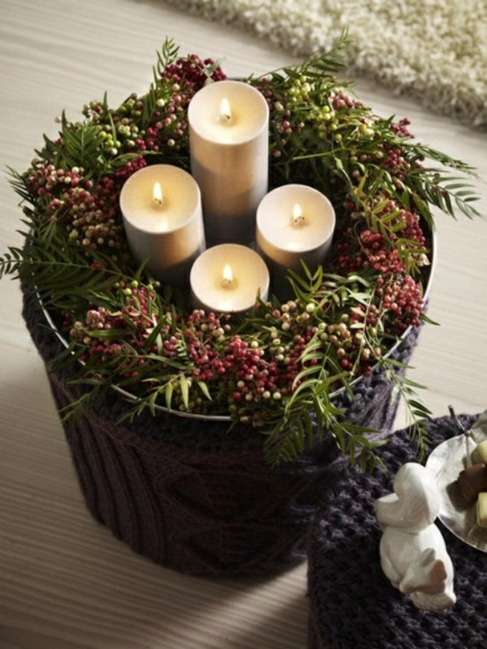 adventskranz selber basteln 90 einfache deko ideen die. Black Bedroom Furniture Sets. Home Design Ideas
