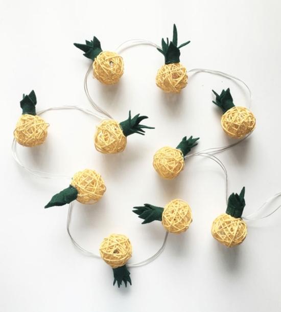 ananas lichterkette basteln