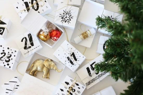 ausgefallene adventskalender selber basteln kleine boxen