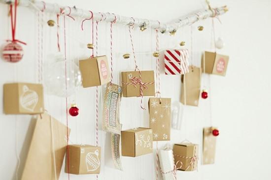 ausgefallene adventskalender selber basteln mit päckchen