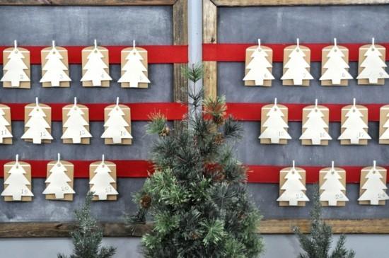 ausgefallene adventskalender selber basteln mit papier