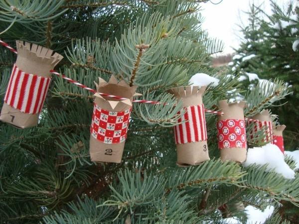 ausgefallene weihnachtsdeko selber machen adventskalender basteln