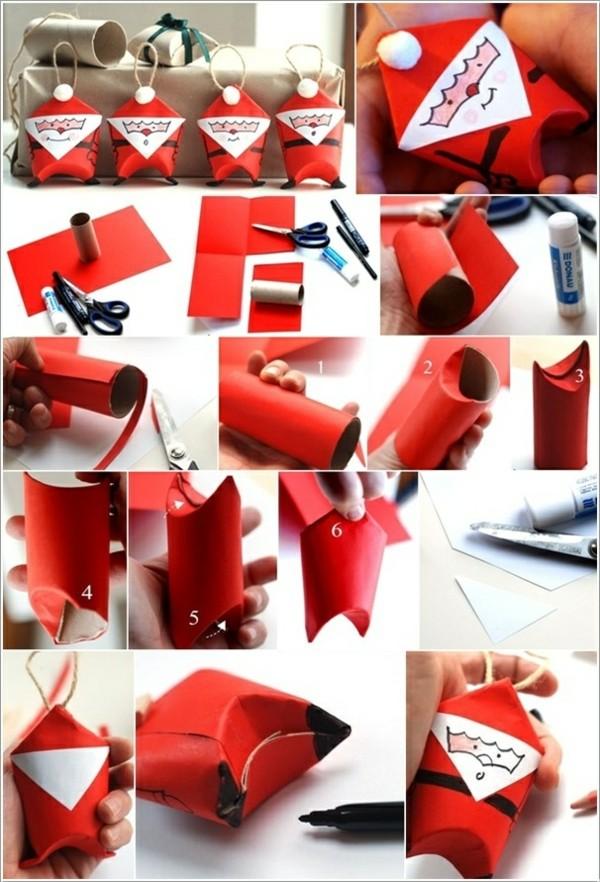 ausgefallene weihnachtsdeko selber machen kleine weihnachtsmänner basteln