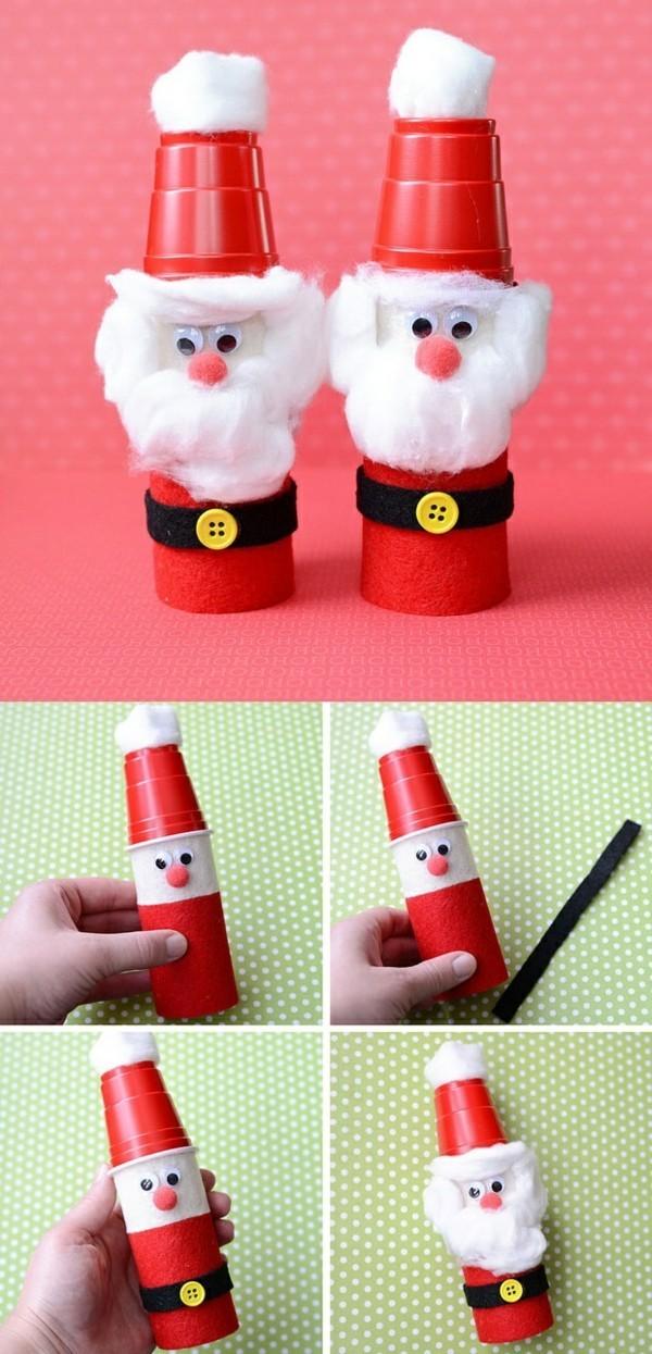 ausgefallene weihnachtsdeko selber machen weihnachtsmann basteln