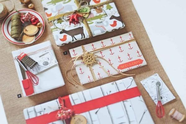 bändeer und muster geschenkpapier