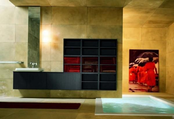 Minimalist Modern Style Wooden Vanity Cabinets Italian Bathroom Design Ideas