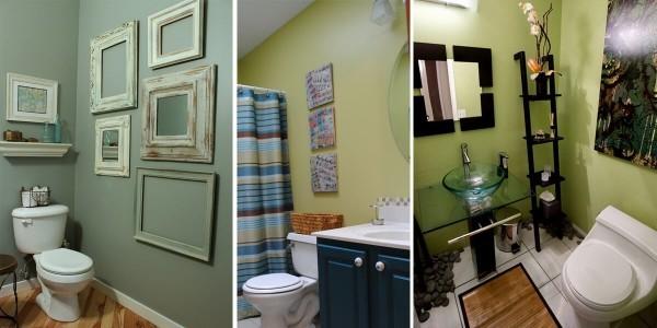 badezimmergestaltung verschiedene grünen wände
