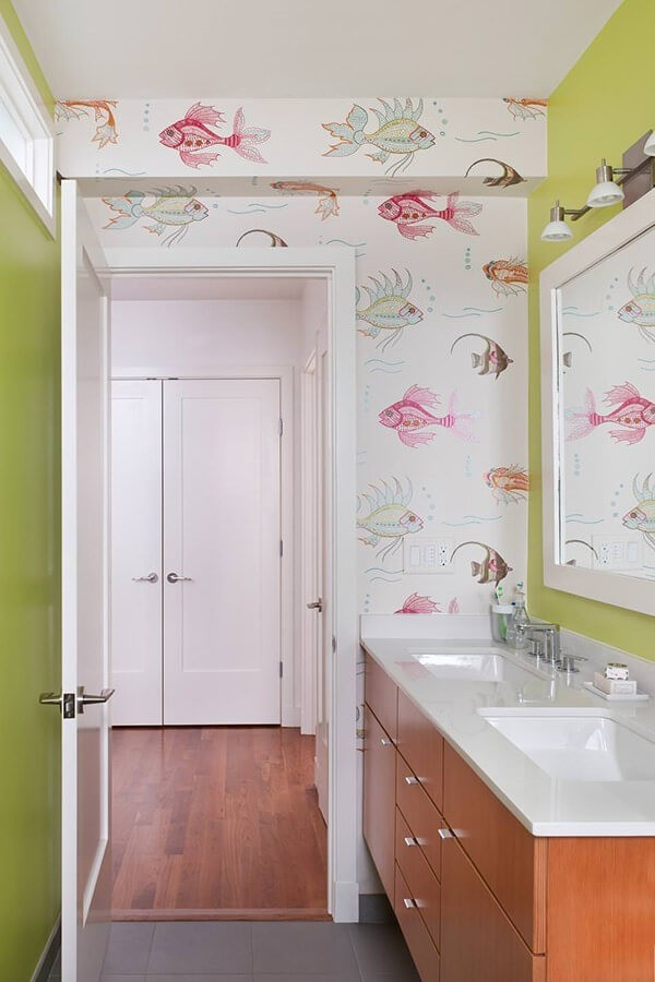 badezimmergestaltung zwei grüns
