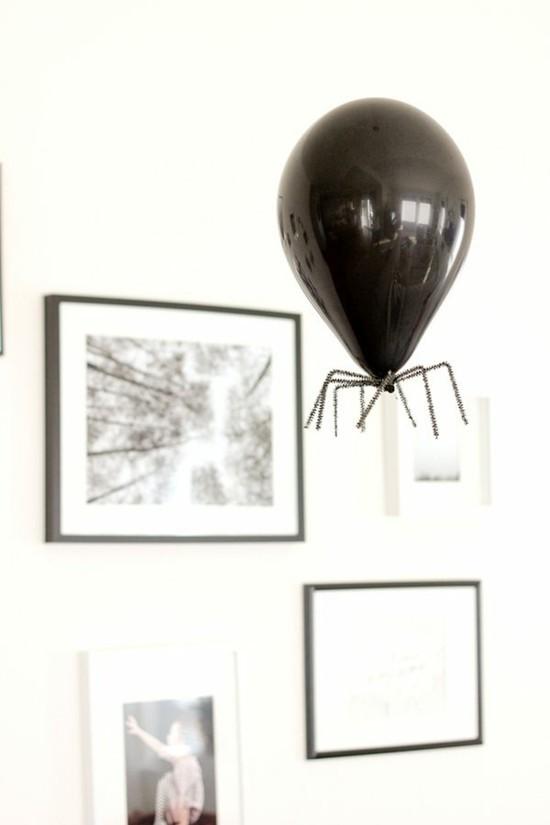 ballon spinne basteln halloween