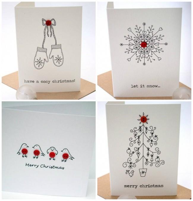 weihnachtskarten basteln 50 tolle und einfache ideen f r. Black Bedroom Furniture Sets. Home Design Ideas