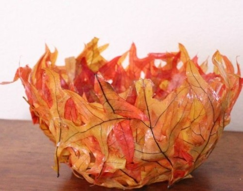 basteln mit blättern rota rose vase
