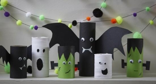 Basteln Mit Klorollen Zu Halloween 60 Super Einfache Bastelideen Zum Gruselfest