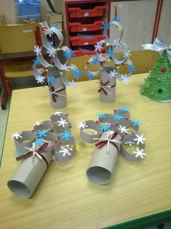 basteln mit klorollen kinderbasteln ideen zu weihnachten
