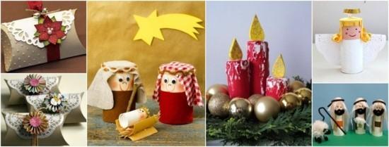 basteln mit klorollen weihnachtsdeko ideen