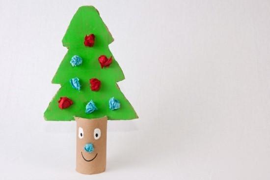basteln mit klorollen weihnachtsdeko weihnachtsbaum