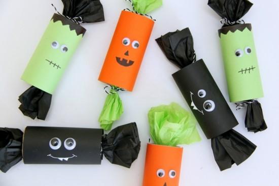 basteln mit klorollen zu halloween geschenke
