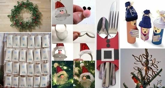 basteln mit klorollen zu weihnachten