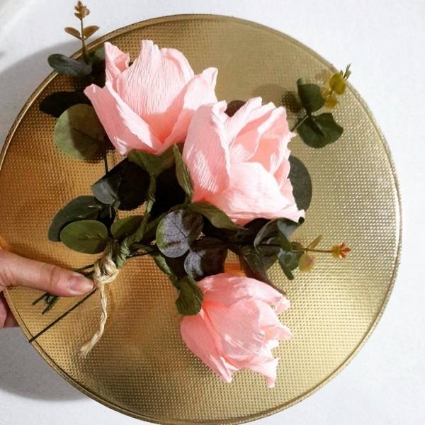 basteln mit krepppepapier krepprosen romantisch