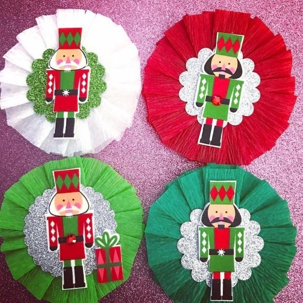 basteln mit krepppepapier weihnachten ideen