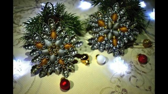 basteln mit nudeln weihnachtssterne