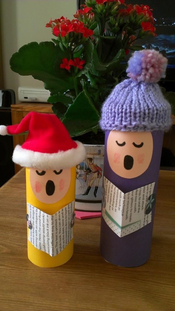 basteln mit toilettenpapierrollen ausgefallene weihnachtsdeko selber machen