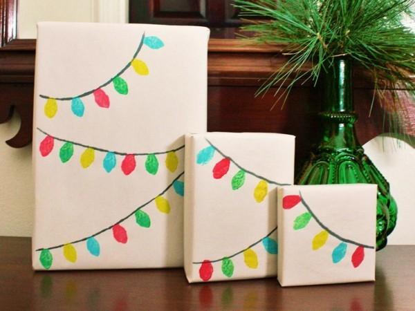 bemalte gilande geschenkpapier