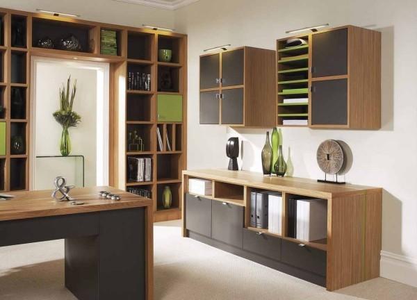 braun grüne ideen arbeitszimmer einrichten