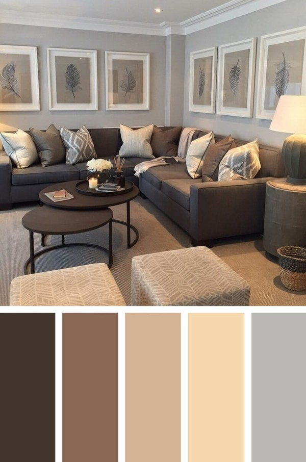 brauntöne farbkombinationen wohnzimmer