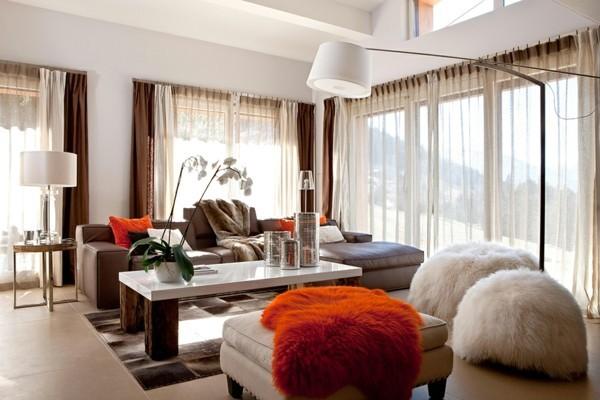 brauntöne moderne wohnzimmereinrichtung
